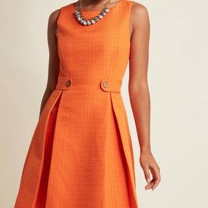 """ModCloth """"So sixties"""" A-line clementine dress NWOT"""
